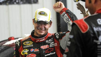 Jeff Gordon wins the Pennsylvania 400 race in August 2012