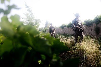 Soldados en la guerra de Afganistán