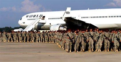 Tropas americanas de regreso a casa