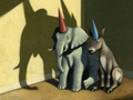 An elephant and a donkey in dunce caps illustrate David M. Walker's opinion piece on restoring fiscal sanity.