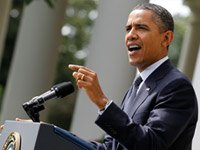 President Obama gives a speech about his deficit-cutting plan on September 19, 2011.