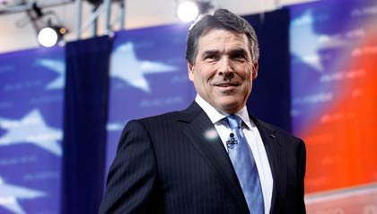 Governor Rick Perry debated other Republican presidential candidates on September 7, 2011