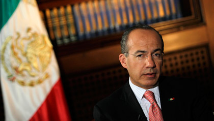 Felipe Calderon, president of Mexico