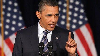 El presidente Barack Obama describe su política fiscal durante un discurso en la Universidad George Washington en Washington DC el miércoles, 13 de abril 2011