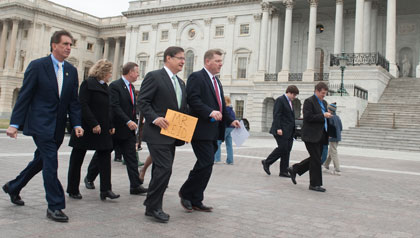 Congressmen with letter