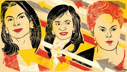 Women Leaders of Latin America - Portaits of Presidents Chinchilla, Kirchner and Rouseff