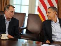 John Boehner y el presidente Barack Obama tratan de llegar a un acuerdo sobre el límite máximo de déficit presupuestario.