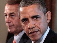 Presidente Barack Obama con el presidente de la Cámara, John Boehner, de Ohio