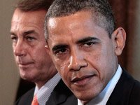 President Barack Obama with House Speaker John Boehner of Ohio