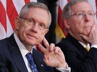 Senado aprueba proyecto de ley de la deuda, Harry Reid, Mitch McConnell.
