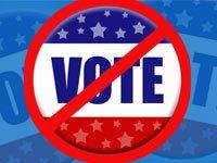 boton con el letrero de No vote - más estados requieren una identificación con foto para votar
