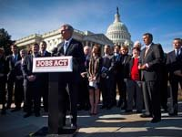 Kevin McCarthy, with House Republican leaders and business leaders, unveils the JOBS (Jumpstart Our Business Startups) Act.