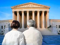 Couple standing before the Supreme Court - a preview of cases coming before SCOTUS in 2011-12 that will affect people over 50