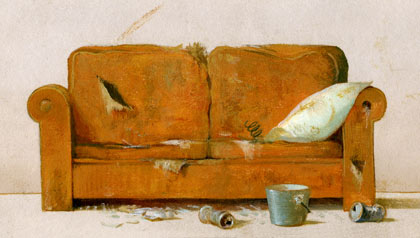 Drawing of an old couch. Elder neglect legal case.