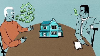 Weintraubs vs Quicken Loans - Two men negotiating the value of a home for a real estate loan.