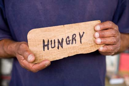 HUNGRY homeless plea