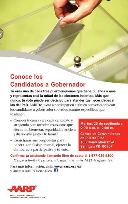 Invitación a conocer los candidatos a Gobernador