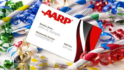Membership card with horns and ribbons-AARP Lifetime Membership Sweepstakes