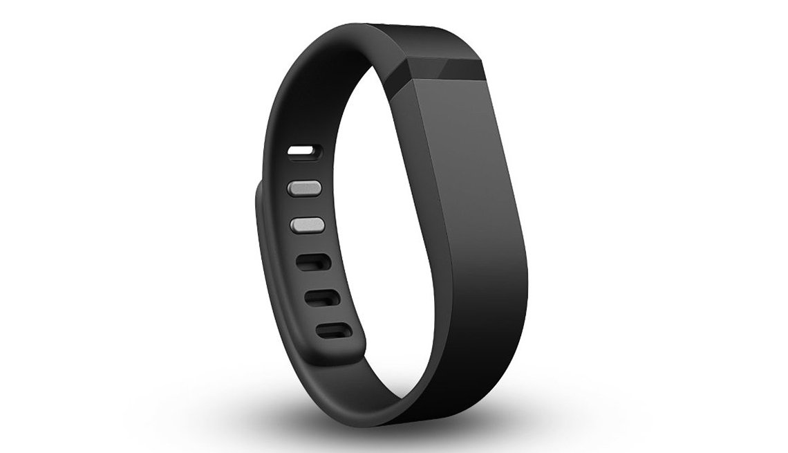 Black fit bit wearable device