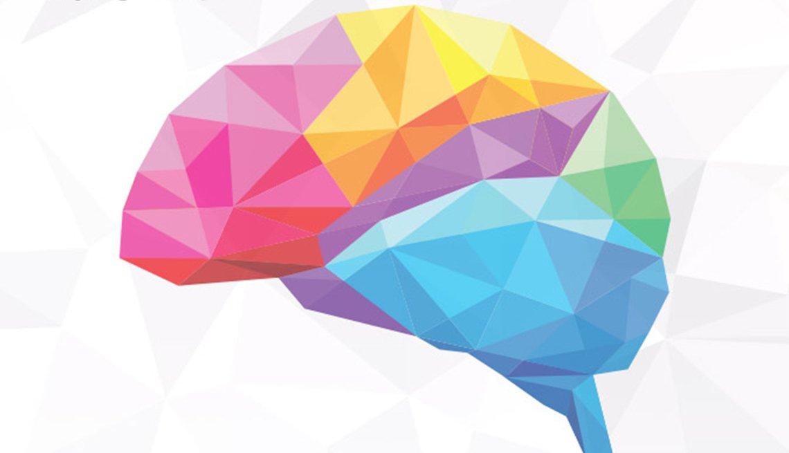 rainbow prism colored brain