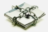 Laptop Computer with a Padlock
