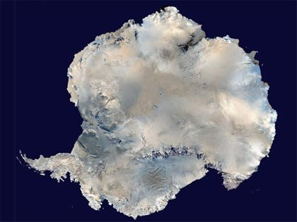 aerial view of Antarctica