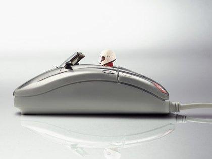 computer mouse race car