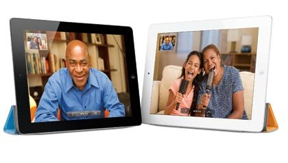 Users utilizing FaceTime on the new iPad 2