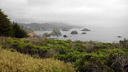 California's famous Route 1 out to the coast and through Mendocino's spectacular coastline.