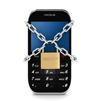 beef up smartphone security phone with lock and chain