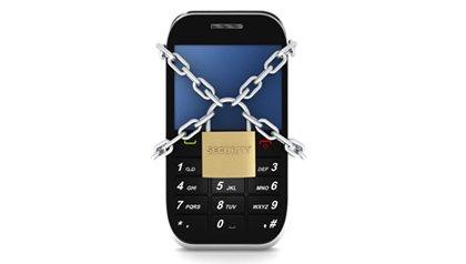 Teléfono inteligente con candado y cadena - Reforzar seguridad en un teléfono inteligente