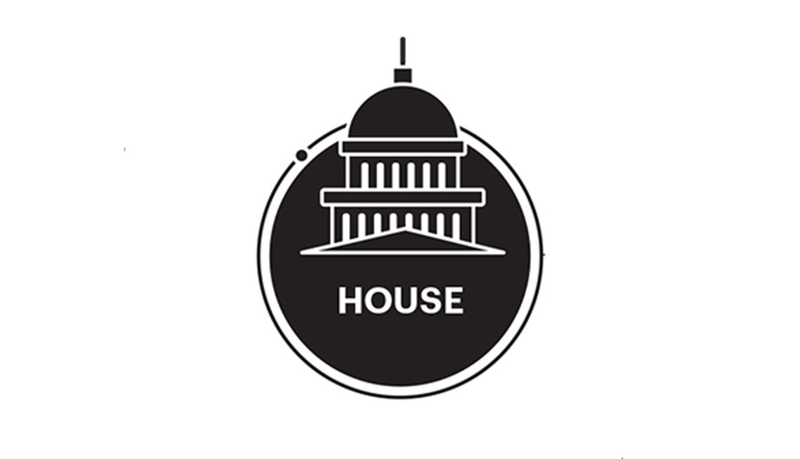 Black and White drawing of circle with windows and dome labeled House