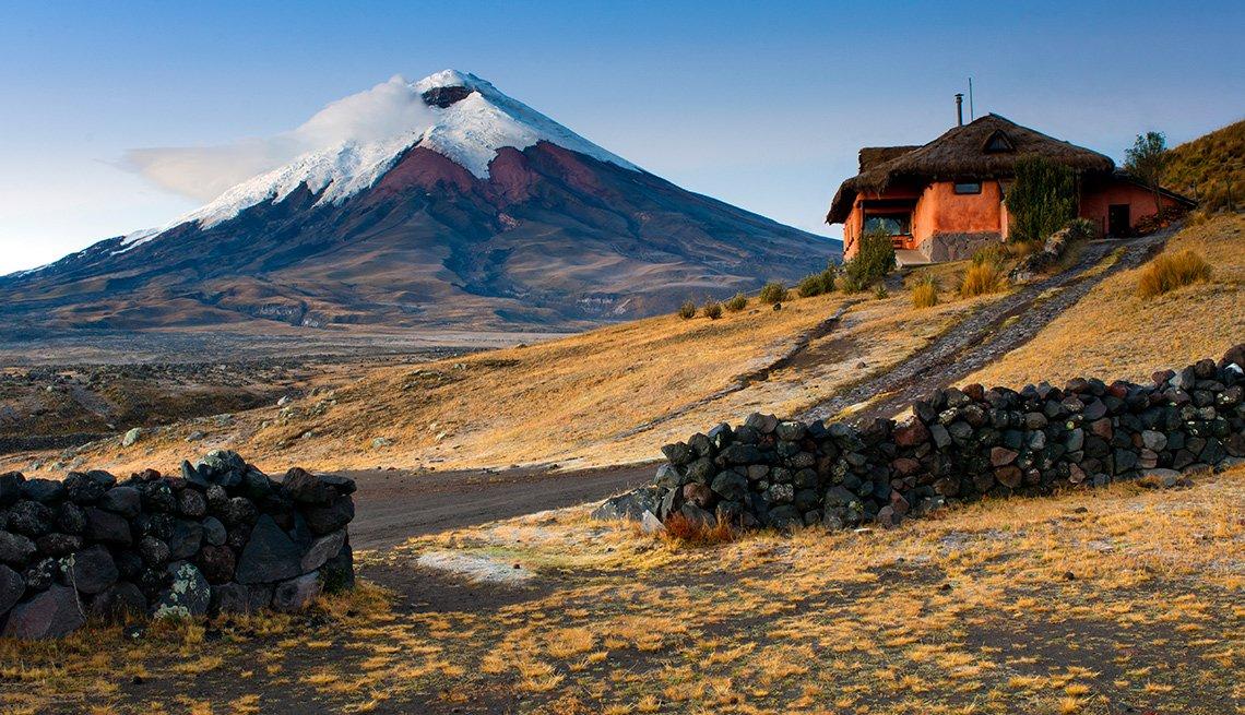 Volcán en el parque nacional Cotopaxi en Ecuador