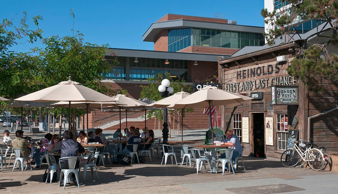 Outdoor Cafe In Oakland California, Top USA Destination Cities