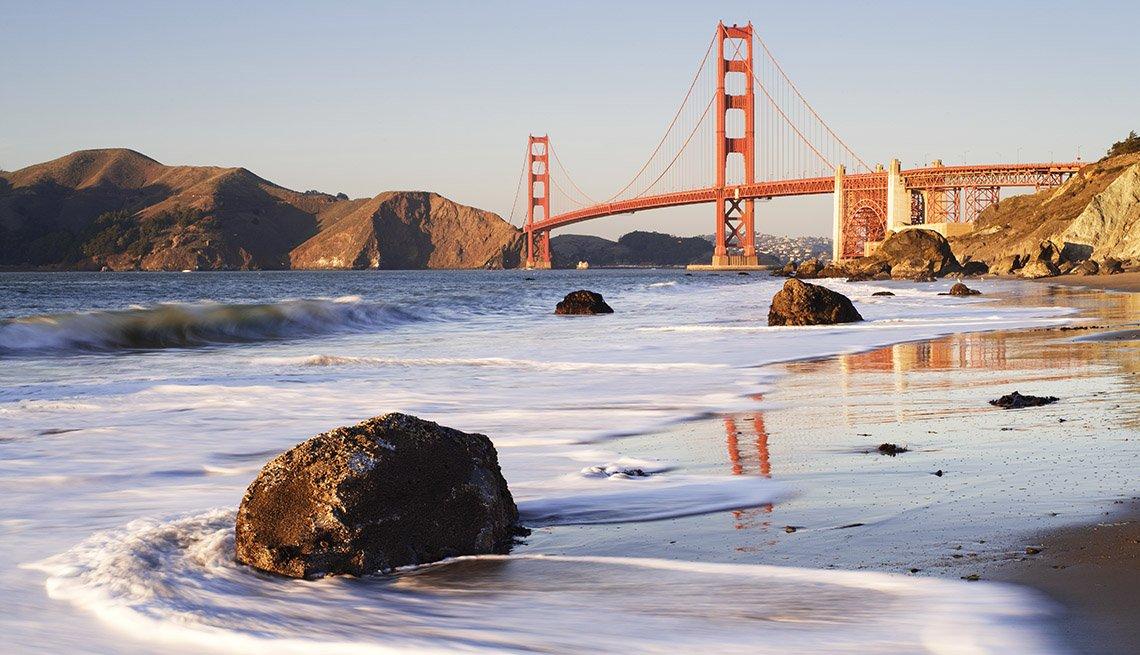 The Golden Gate Bridge In The Background San Francisco California, Free USA Destinations
