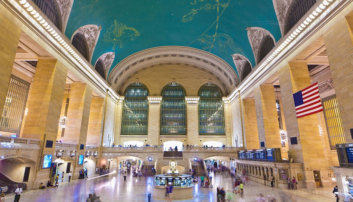 The Ceiling Of Grand Central Terminal In New York City
