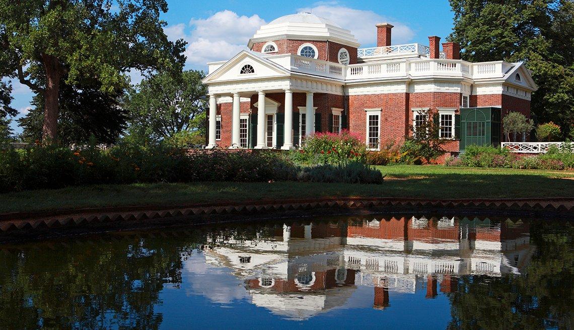 Monticello en Charlottesville, Virginia - 10 ciudades para los aficionados a la historia