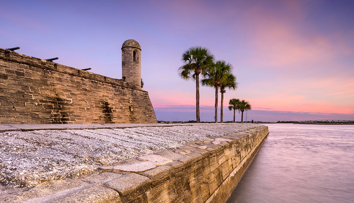 Castillo de San Marcos Monumento Nacional en St. Augustine, Florida