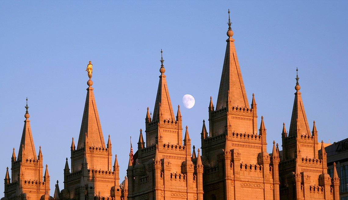 Tabernáculo Mormón en Salt Lake City, Utah - 10 ciudades para los aficionados a la historia