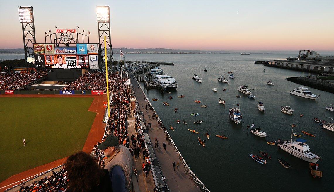 Estadios de béisbol emblemáticos de Estados Unidos - AT&T Park en San Francisco