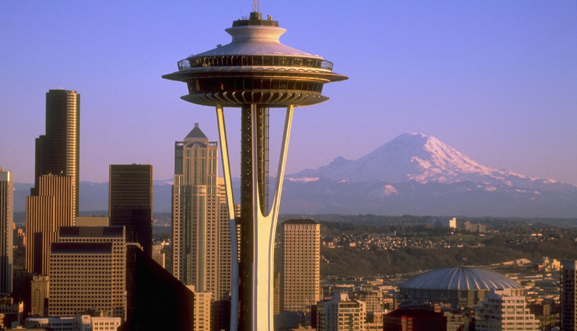 Space Needle - Edificios incomparables en Estados Unidos