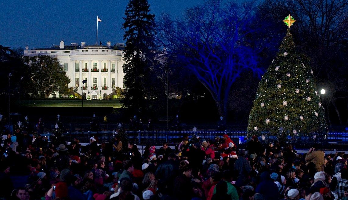 Árbol de Navidad Nacional, cerca de la Casa Blanca.