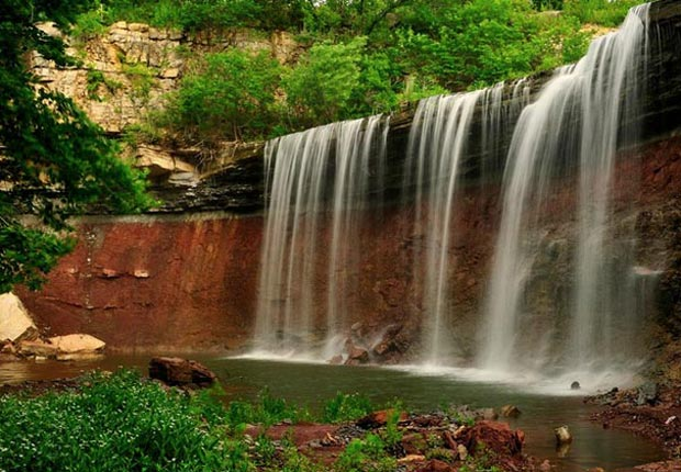 Cowley Lake Waterfalls, Kansas