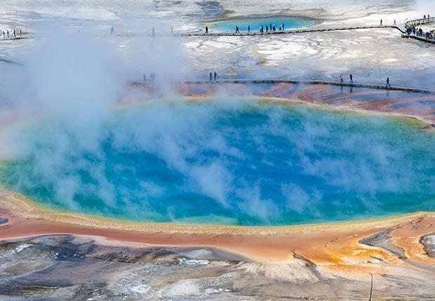10 Maravillas Naturales de América - Caldera de Yellowstone Caldera en Wyoming y Montana