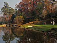 Augusta National Golf Club in autumn.