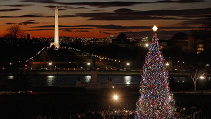 El  árbol de Navidad del Capitolio - Ceremonia de encendido de la fachada oeste del Capitolio de los EE.UU.