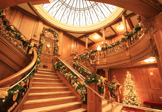 Titanic Museum during Christmas