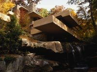 Frank Lloyd Wright's Fallingwater in Pennsylvania.