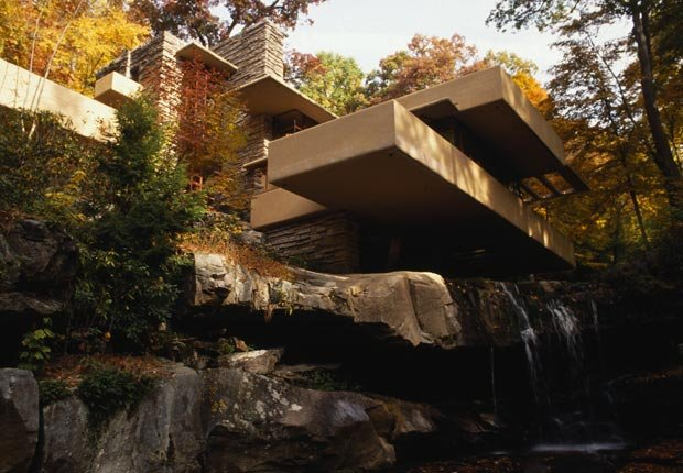 Fallingwater, diseñado por el arquitecto Frank Lloyd Wright, en Pensilvania.