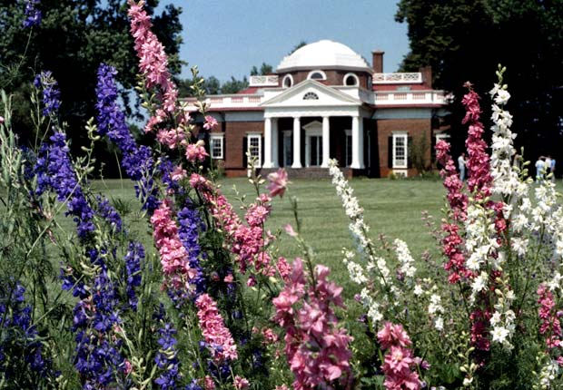 Thomas Jefferson's Monticello near Charlottesville, VA.